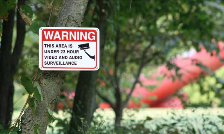 This Area is Under 23 Hour Surveillance